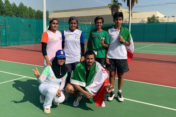 درخشش تنیس بازان زیر 13 سال ایران در غرب آسیا